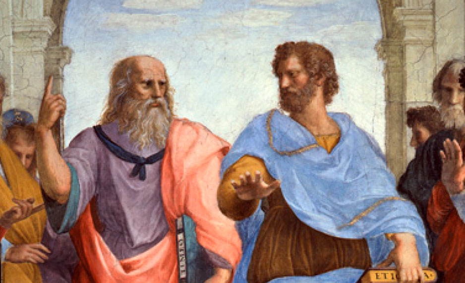 Painting of two ancient philosophers